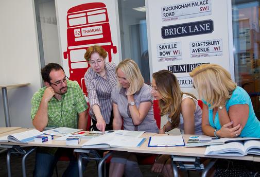 Učebna Londýn a lekce anglické konverzace.