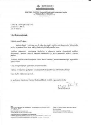 Referenční dopis