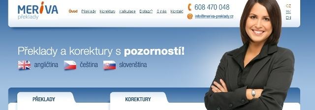 Překladatelská agentura MERIVA TRANSLATIONS s.r.o. Praha 2