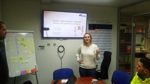 Tlumočení prezentace do španělštiny, oddělení logistiky