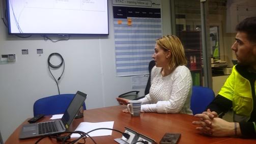 Tlumočení prezentace skupině kolegů ze Španělska, oddělení logistiky