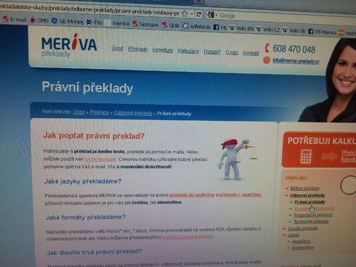 Právní překlady MERIVA