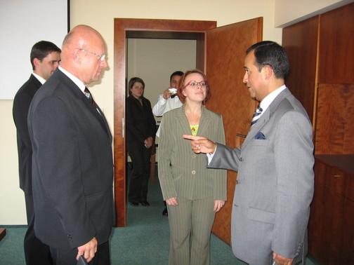 tlumočení na Magistrátu města Hradce Králové pro peruánského velvyslance